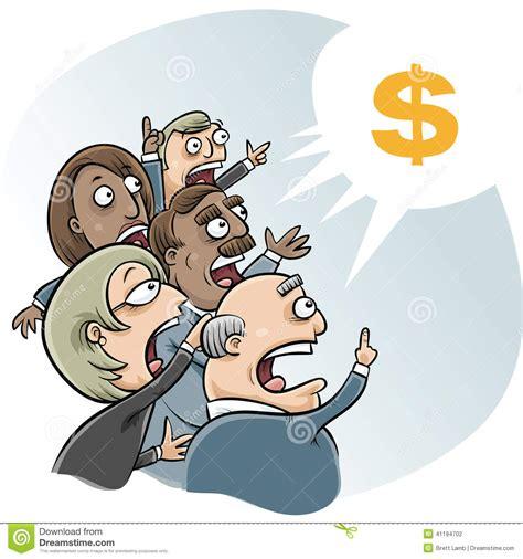 bid to buy bidding business stock illustration image 41194702