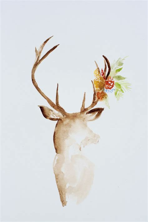 deer watercolor tattoo best 25 watercolor deer ideas on antler