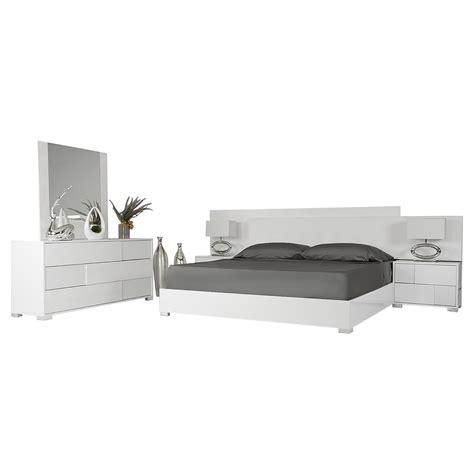 modrest monza italian modern white bedroom set modrest monza italian 5 pieces bedroom set white dcg