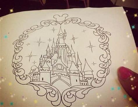 castle of disney world line drawing tattoo inspiration disney castle drawing art pinterest disney