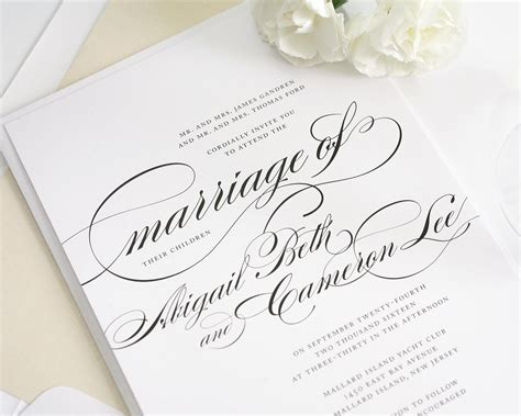 wedding invitation article beautiful wedding invitations beautiful wedding invitation in black and white with script