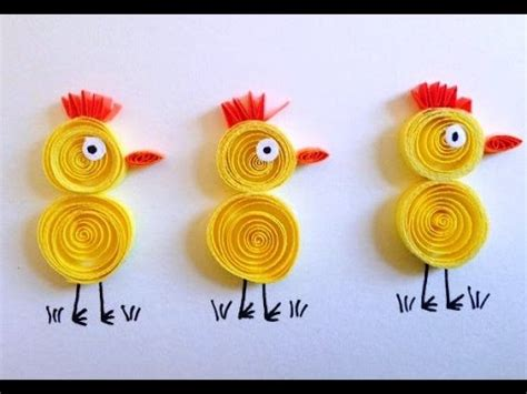 Arts And Craft With Paper - craft how to make quilled yellow card