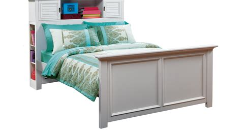 bookcase bed full belmar white 3 pc full bookcase bed