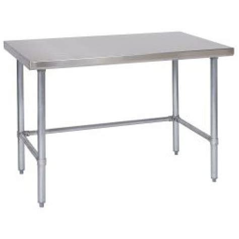 stainless steel desk l tarrison open base stainless steel work table