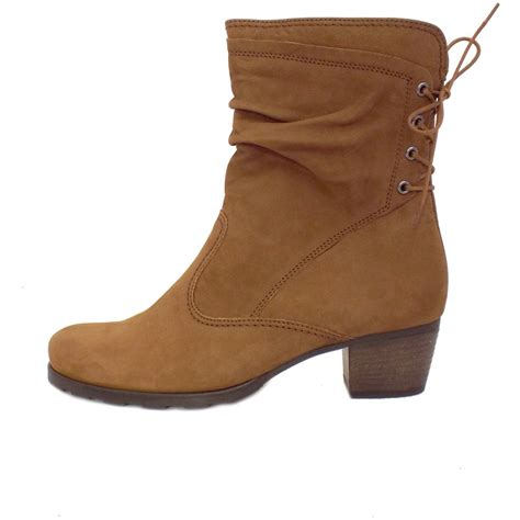 Light Brown Boots by Gabor Boots Sonic Comfortable Boots In Brown