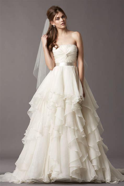 TIERED WEDDING GOWN  THE POPULAR BRIDE WEAR 2016