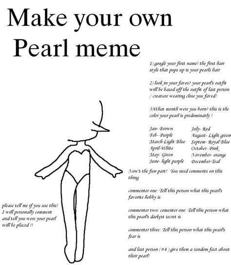 How To Make Your Own Memes - make your own pearl meme by taintedtruffle on deviantart