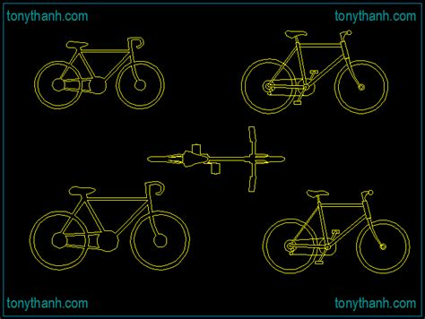 bicycle dwg archives free cad blocks autocad drawings