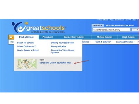 4 steps find school boundaries aligned to a specific