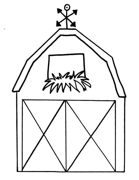 barn coloring pages with animals free printable barn templates barn coloring pages this