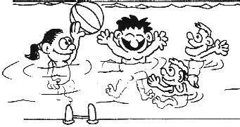 dibujos niños jugando en la piscina lecturas educaci 243 n f 237 sica y deportes revista digital