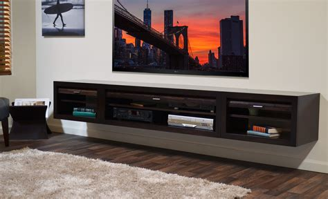 luxury wall mounted modern tv cabinets in black with glass floating tv stand entertainment center eco geo espresso