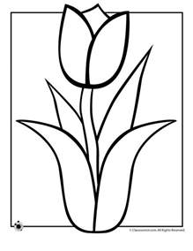 tulip coloring pages 25 best ideas about flower coloring pages on