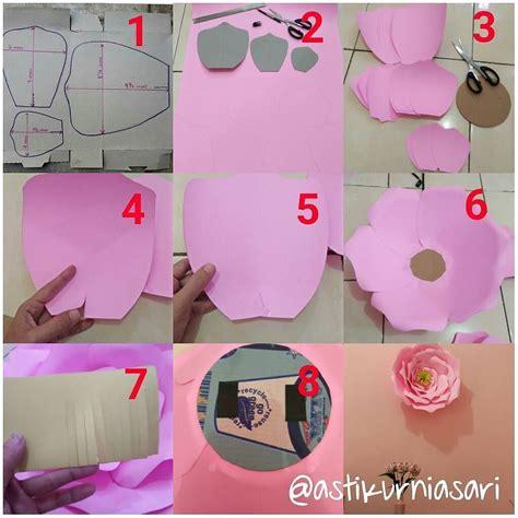 cara membuat bunga dari kertas craf diy cara membuat hiasan bunga dari kertas karton flower