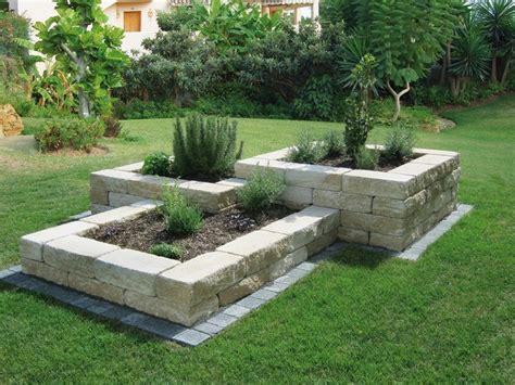 garten ideen steine beet mit steinen baukastensysteme nowaday garden best