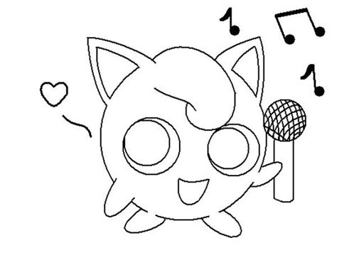 Jigglypuff Coloring Pages Jigglypuff Holding Microphone Coloring Page Download by Jigglypuff Coloring Pages