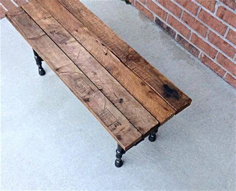 iron pipe bench diy reclaimed pallet and iron pipe bench 101 pallets