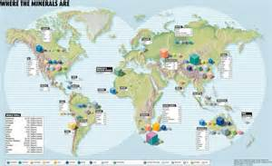 mineral map infographic locating the world s minerals and mines