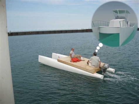 small catamaran fishing boats catamaran converted into powerboat google search small