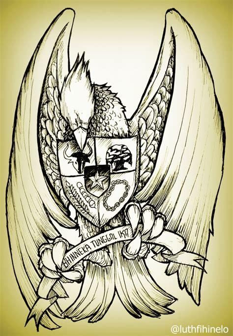 sketch book gambar outstanding garuda pancasila by lutheases on deviantart