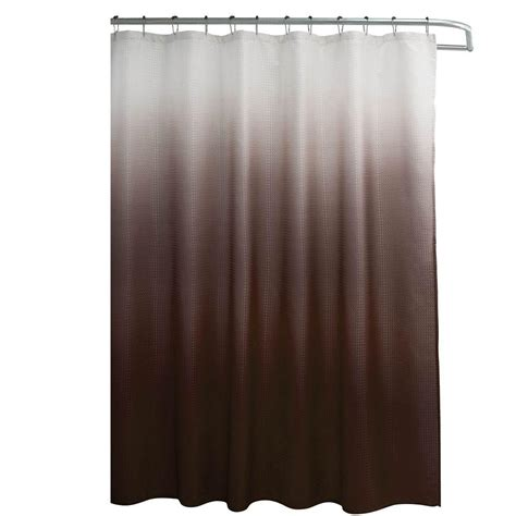 brown waffle weave shower curtain creative home ideas ombre waffle weave 70 in w x 72 in l