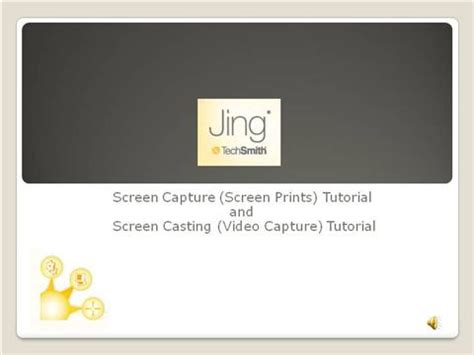 jing tutorial powerpoint jing screen captures and casts 03 authorstream
