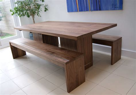 kitchen tables with benches walnut dining table benches mijmoj