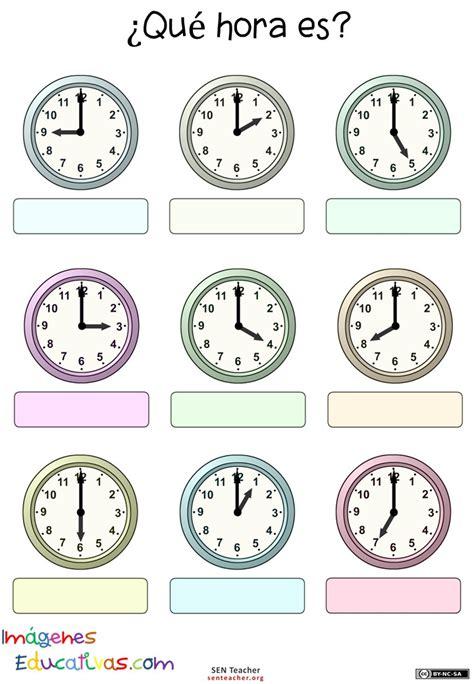 imagenes hora en ingles trabaja las horas y los relojes 6 imagenes educativas