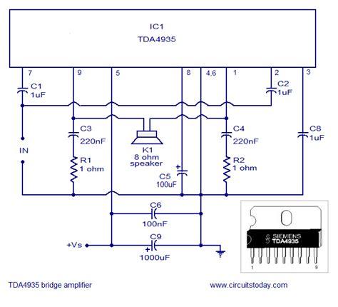 bridged lifier diagram gt bridge lifier using tda 4935 today s circuits
