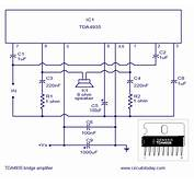 Bridge Amplifier Using TDA4935 Circuit Diagram For 30