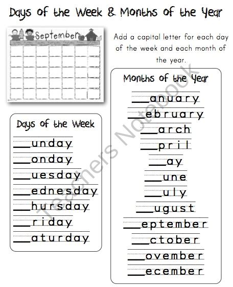 Do You Capitalize Calendar 7 Best Capitalization Images On