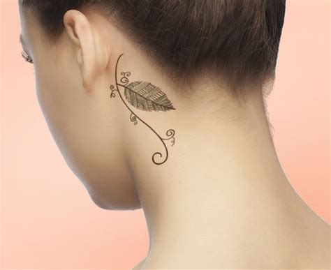 circle tattoo behind ear 14 awesome leaf tattoo design ideas that will win your heart