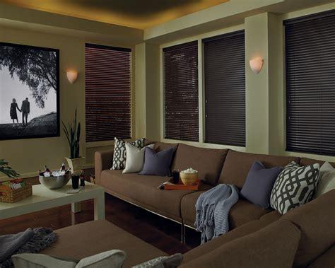 media room curtain ideas blackout honeycomb shades media room abda window fashions