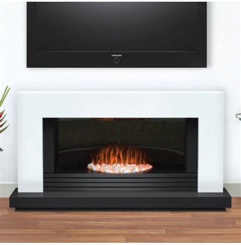 Contemporary Electric Fireplace Daytona Contemporary White And Graphite Electric