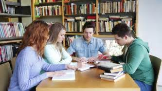 books for high school graduates of friends a discussion at the library stock footage 5176799