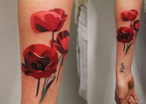 poppy wrist tattoo flower tattoos designs pictures page 25