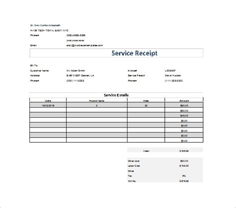 dental receipt template sle dental receipt template 5 free word excel pdf format