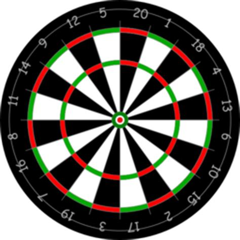 pattern of numbers on a dartboard bersaglio freccette clipart i2clipart royalty free