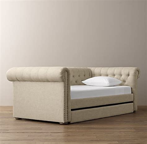 upholstered day bed chesterfield upholstered daybed with trundle