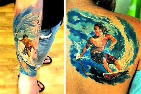 surfboard tattoo the most surf tattoos