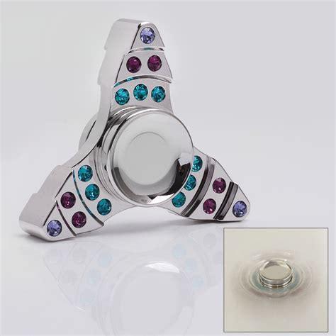 Fidget Spinner Keramik Ceramic Bearing Tri Spinner Toys 1 silver brass tri spinner fidget focus edc