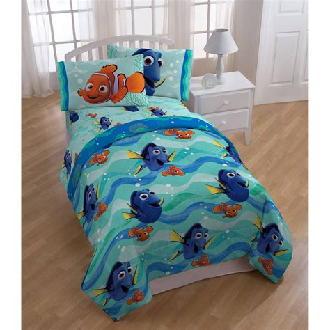 finding nemo bedding disney finding dory nemo pin baby bed in a bag 5 piece twin bedding sheet set ebay