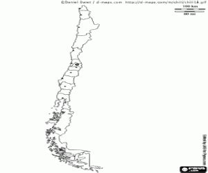 coloring page map of chile political maps of america countries coloring pages