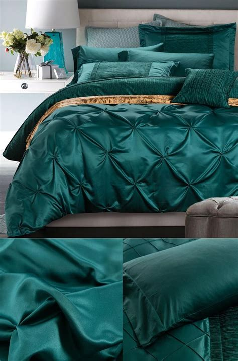 Set As Greeny doona cover set luxury silk green bedding