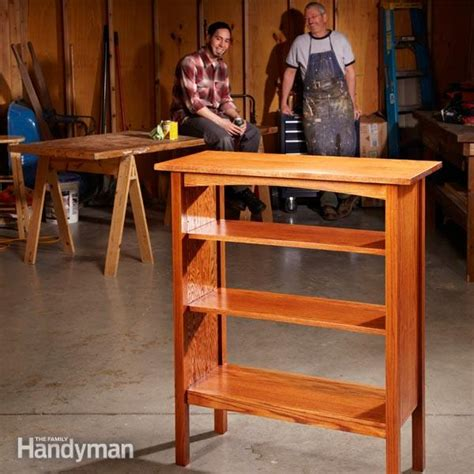 family woodworking how to build a bookcase the family handyman