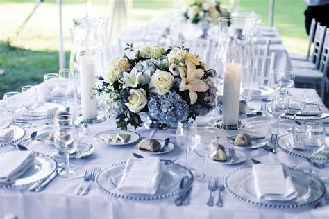 REAL STORIES: A Classic White and Blue Tented Wedding In