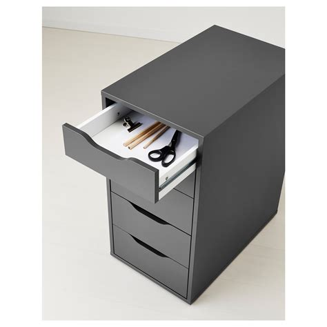 Small Desk With Drawers Ikea Alex Drawer Unit Grey 36x70 Cm Ikea