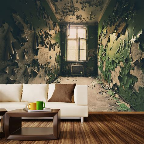 Removable Wallpaper For Renters abandoned room wall mural decal 100 quot l x 100 quot w walls