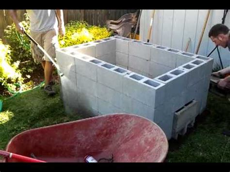backyard pit bbq diy backyard bbq pit stage 3 youtube