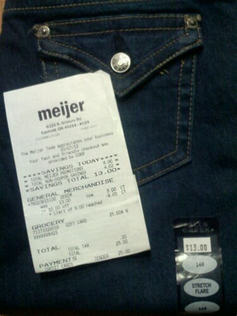 Meijer Gift Card - meijer free kid s jeans after gift card purchase money saving mom 174